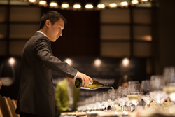 Serving Chablis wines