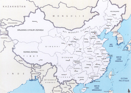 Map of China - Chablis
