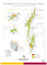 """Bourgogne and its five winegrowing areas"""