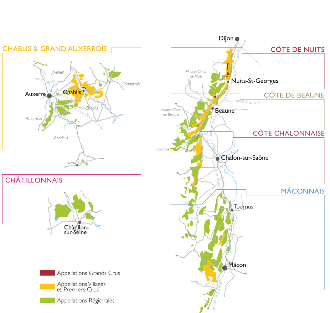 Carte Bourgogne Viticole.Cremant De Bourgogne